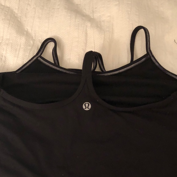 lululemon athletica Tops - Lululemon power Y tank, black, size 4!